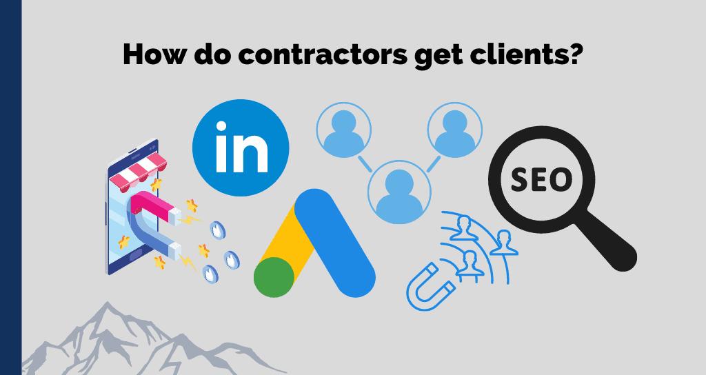 How do contractors get clients