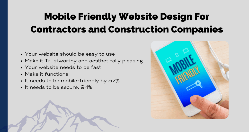 Mobile Friendly Website Design For Contractors and Construction Companies